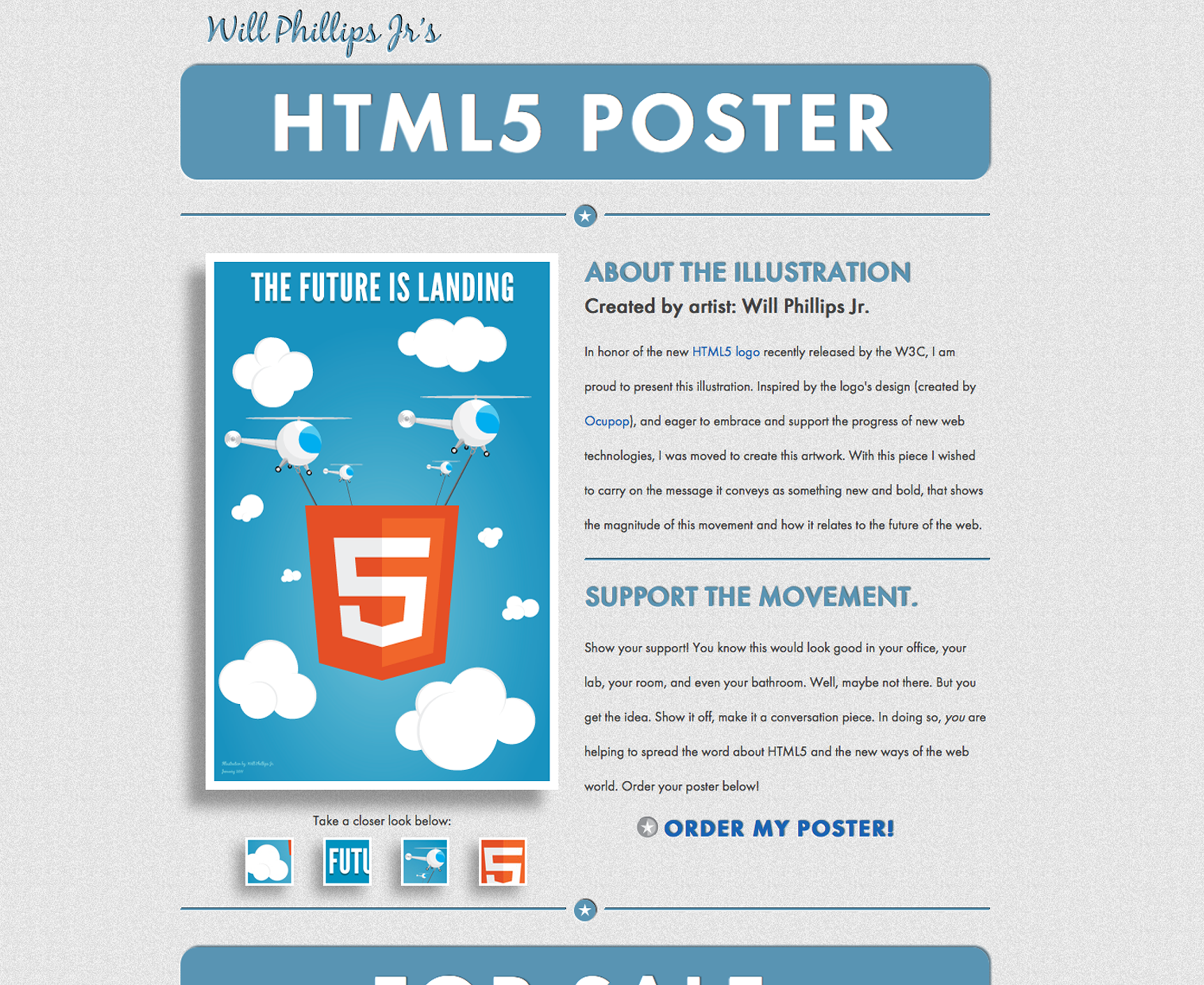 HTML5 Poster Web Page