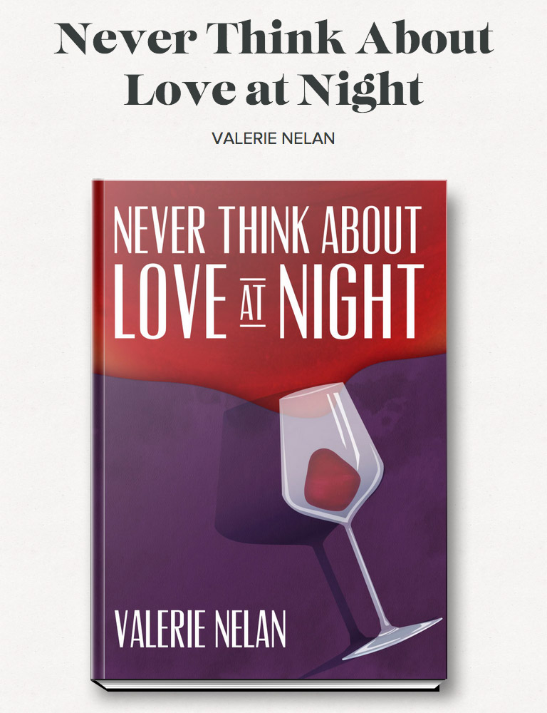 Never Think About Love Again Book Cover Art Design on Leafless