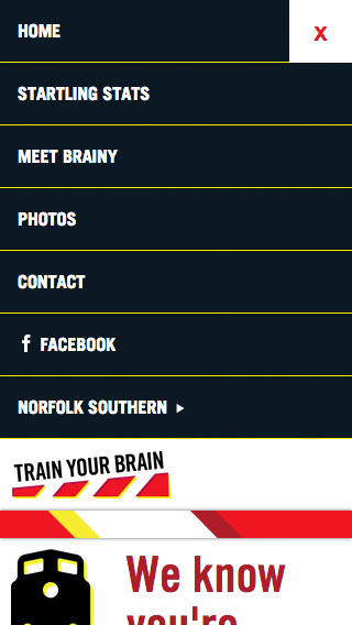 Train Your Brain - Norfolk Southern - Repsonsive Web Design