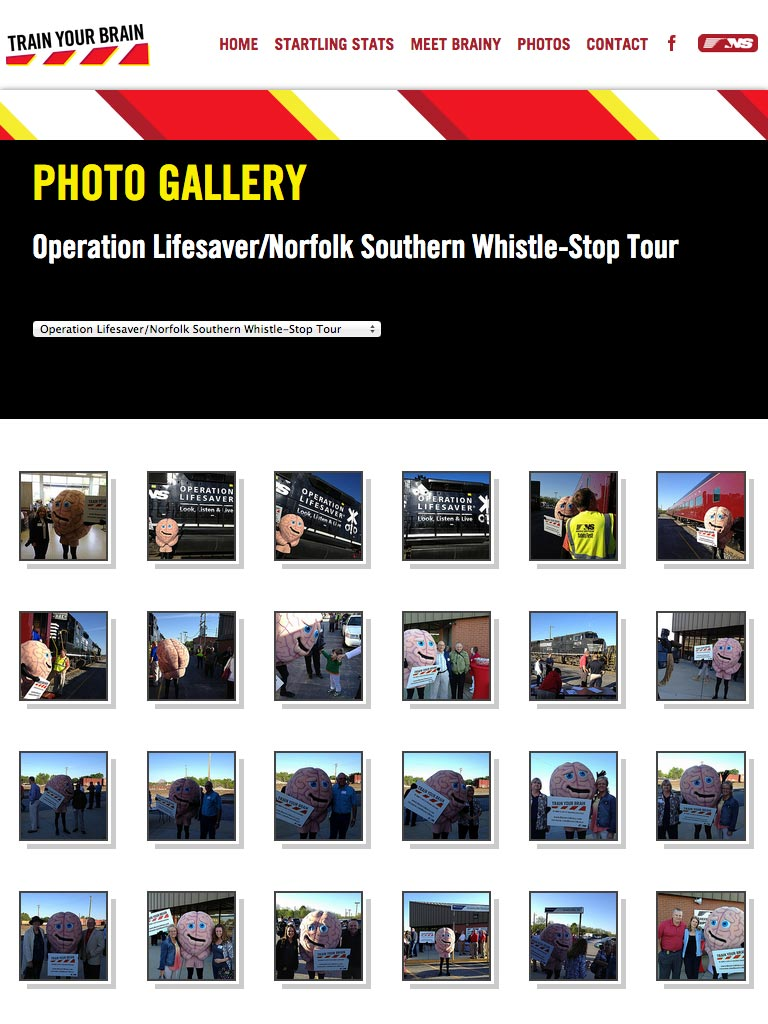 Train Your Brain - Norfolk Southern - Photo Gallery Web Design